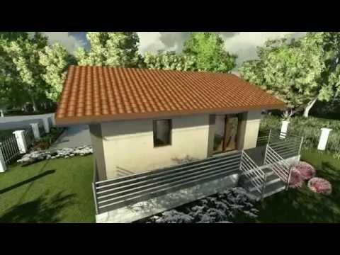 MODEL A-02, Interesantna vikendica, kuća za odmor, P = 55 m2