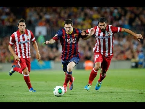 Barcelona vs Atletico Madrid 0-0 Highlights 720P HD Supercopa 2013 English 08/28/2013 Atari-Remix