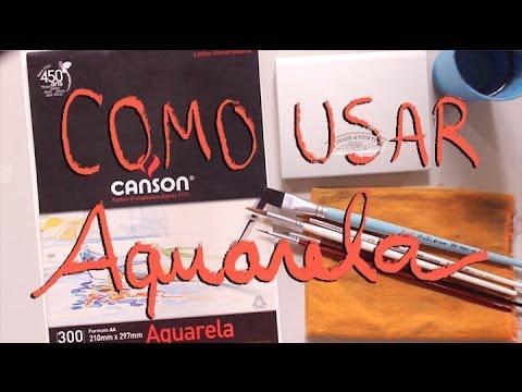 Como usar Aquarela | How to use watercolors (eng subs)