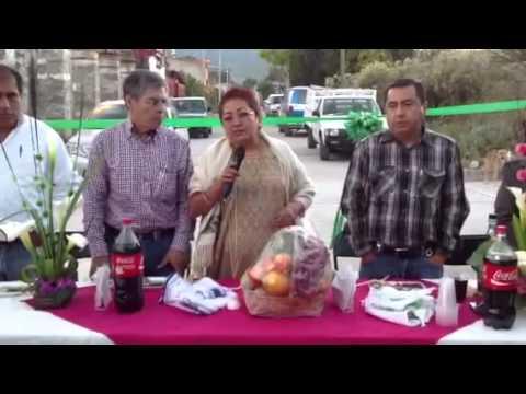 La Diputada Gloria Bautista en Tamazulapam