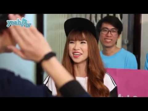 Khởi My cười tít mắt khi đk Huy Khánh tỏ tình :*