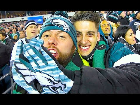 FRONT ROW SEATS AT THE PHILADELPHIA EAGLES GAME!!!