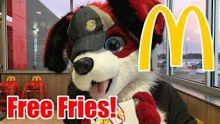 Fursuiting at McDonald's