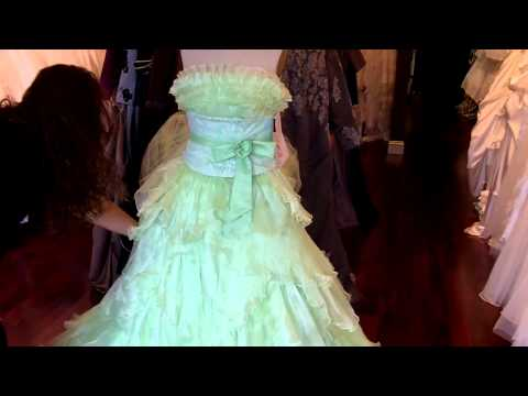 lime green and black goth wedding dresses