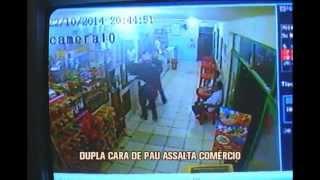 Bandidos de capacete assaltam com�rcio em Paragua�u