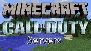 Minecraft Call Of Duty Servers! 1.8 ( Rank Up, Unlock Guns