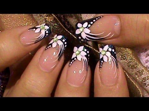 Formal Event Black White Nail Art Design Tutorial Nail Designs Video