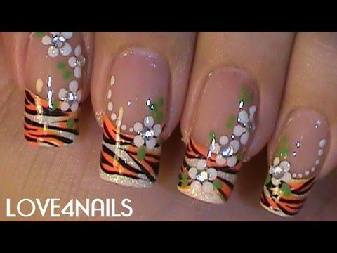 Summer ƸӜƷ Tiger Swag Nails