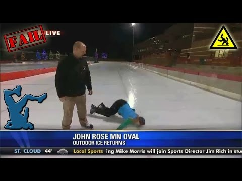 Fox 9 Morning News reporter MA Rosko faceplants on live TV At Ice Rink [EPIC FAIL]