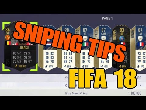 FIFA 18 SNIPING TIPS ( Best trading method ) EA Tax explained