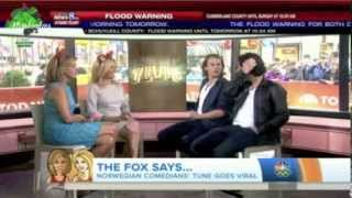 Ylvis On Today Talk-show With Hoda And Kathie