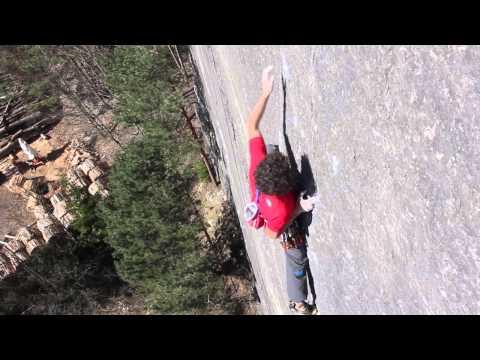 Jacopo Larcher climbs