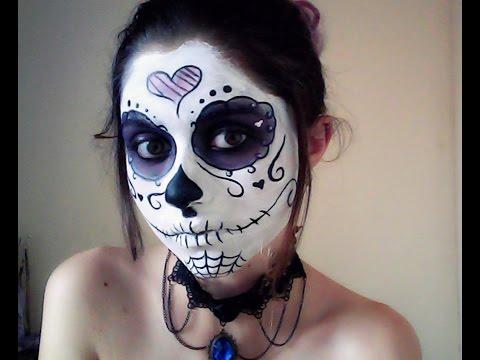 Make up Halloween: Caveira Mexicana (La Catrina)