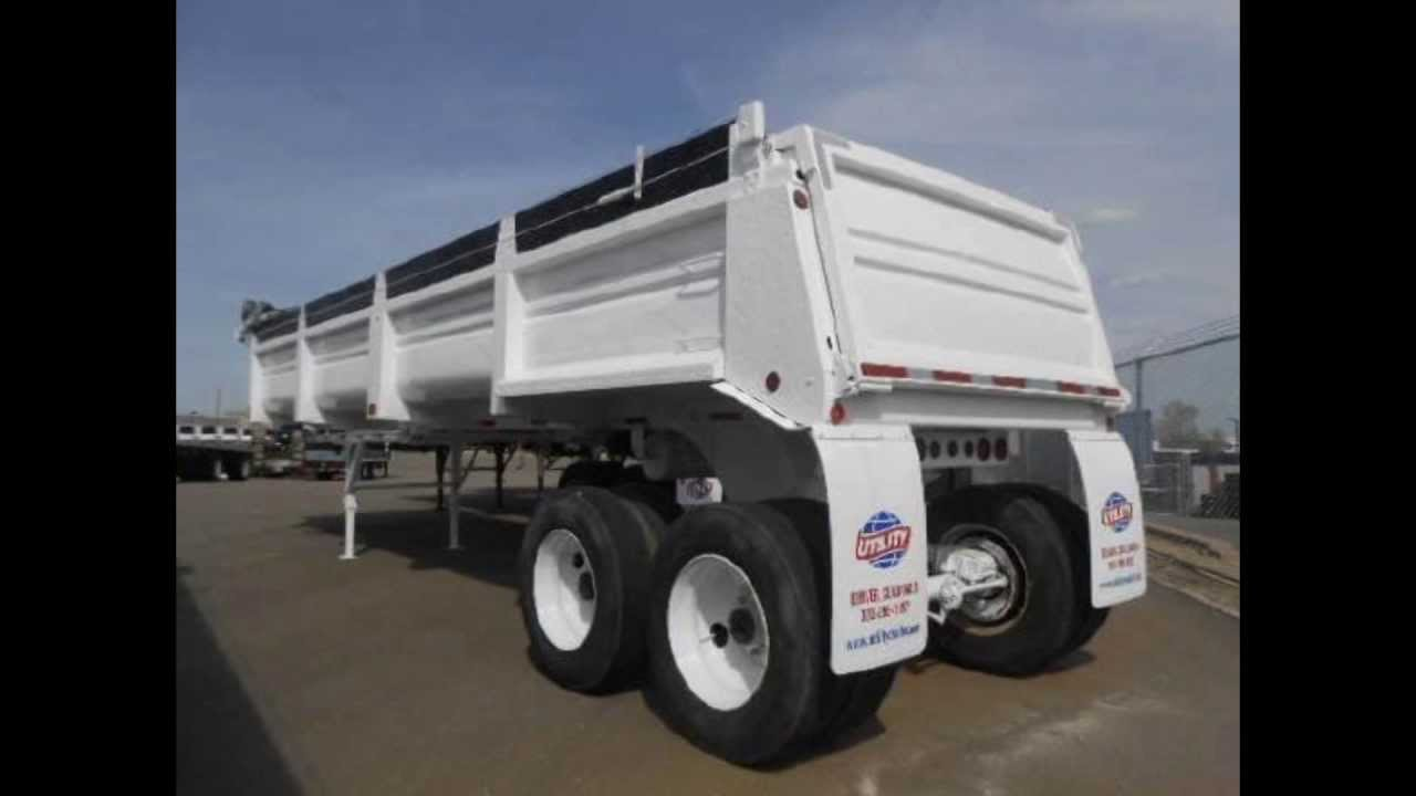 Watch on frameless dump trailer