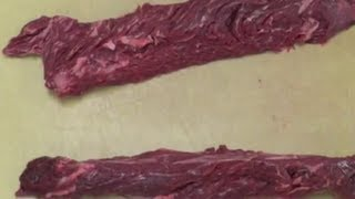 How to clean an Hanger steak - How to butcher beef - How to clean meat - Cooking Classes