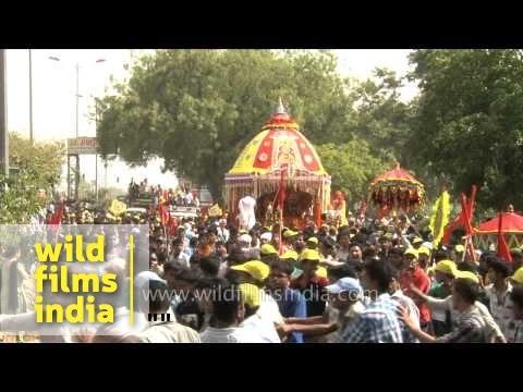 Devotees gather during Jagannath Rath Yatra - Delhi