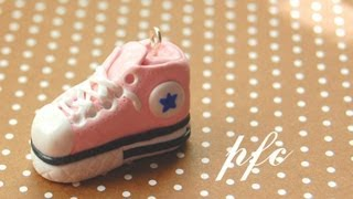 DIY Converse Shoe Polymer Clay Charm Tutorial
