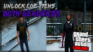 """GTA 5 Online: NEW """"How To Get Cop Shirts And Hat 1.25/1.24"""