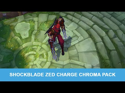 Lol Pbe 6 29 2015 Shockblade Zed Charge Chroma Pack Preview