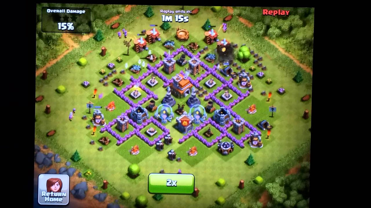 Clash of Clans Defense Town Hall Level 7