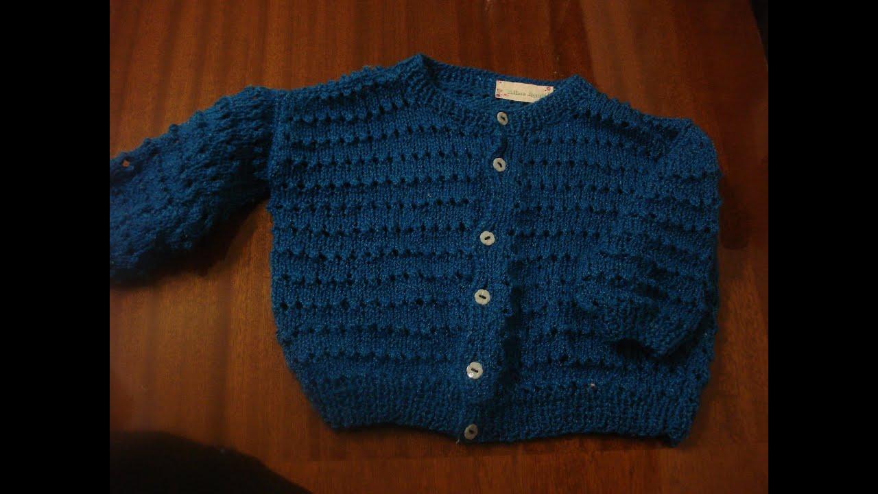 Suéter Para Bebe en 2 agujas Parte 1 de 2 - YouTube