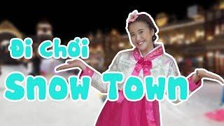 CÔ GÁI HÀN QUỐC VANNIE TRƯỢT TUYẾT Ở SNOW TOWN SÀI GÒN | VANNIE SPECIAL