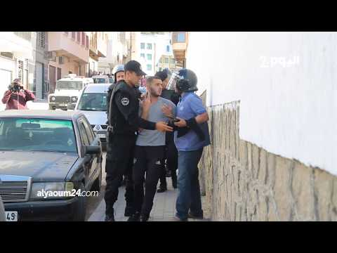 لحظة اعتقال محتجين بالحسيمة