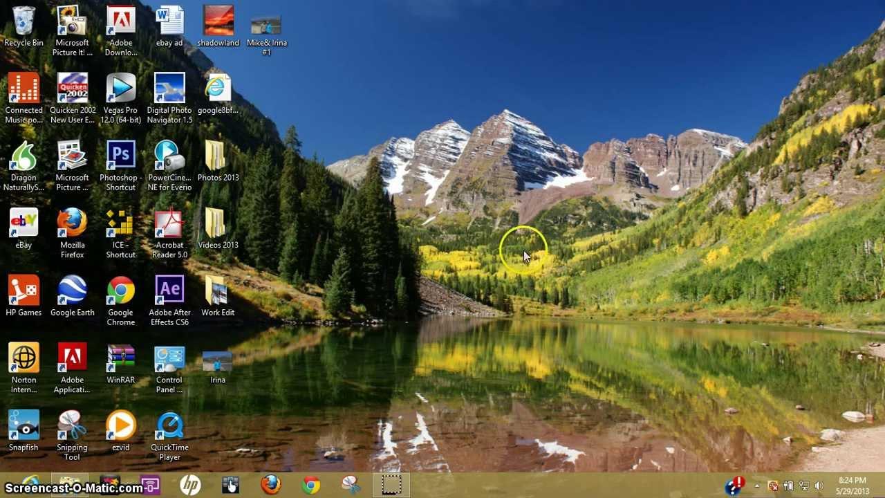 How to change windows 8 desktop background youtube - Set video as wallpaper ...