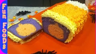[Candy Corn Pumpkin Cake (Halloween Treats)] Video
