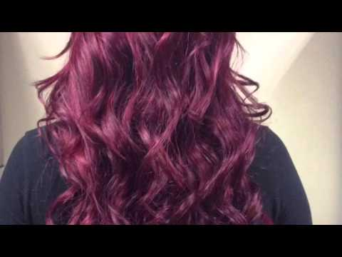 How to color my Mayvenn dark hair Red/Magenta WITHOUT BLEACH quick Tutorial!