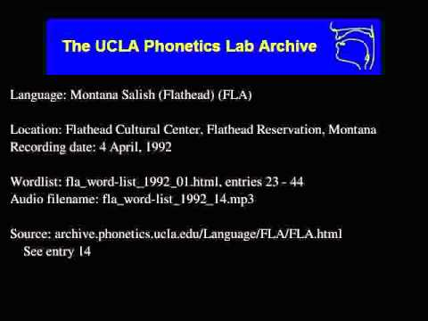 Flathead audio: fla_word-list_1992_14