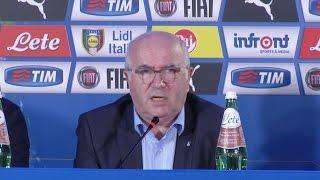 Le dichiarazioni di Tavecchio sullla qualificazione azzurra e il ct Conte
