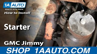 How To Install Replace Starter Chevy GMC 305 350 Pickup