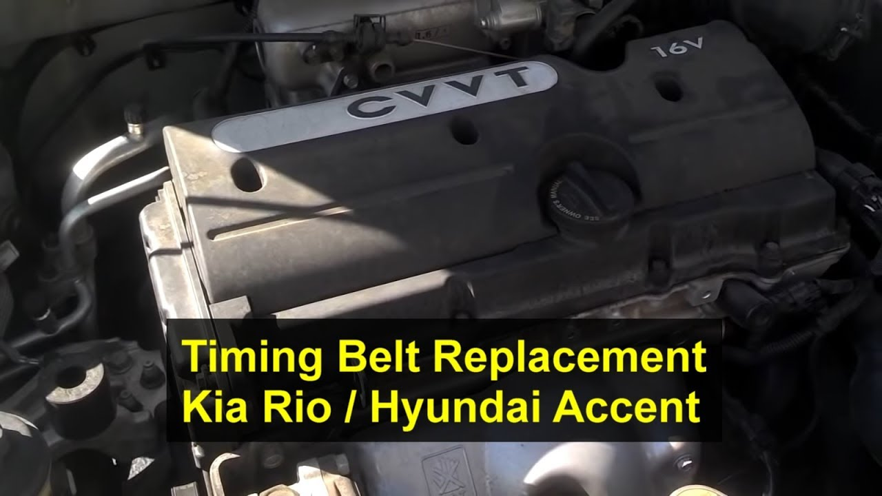 Kia Rio Timing Belt Replacement  1 6l  I4  16 Valve