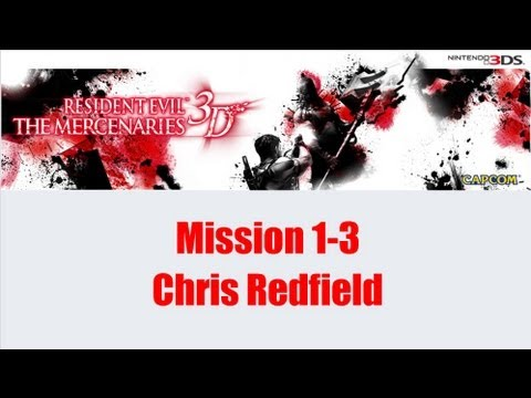 Resident Evil Mercenaries Nintendo 3DS Mission 1-3 Hunk + Chris is in da house