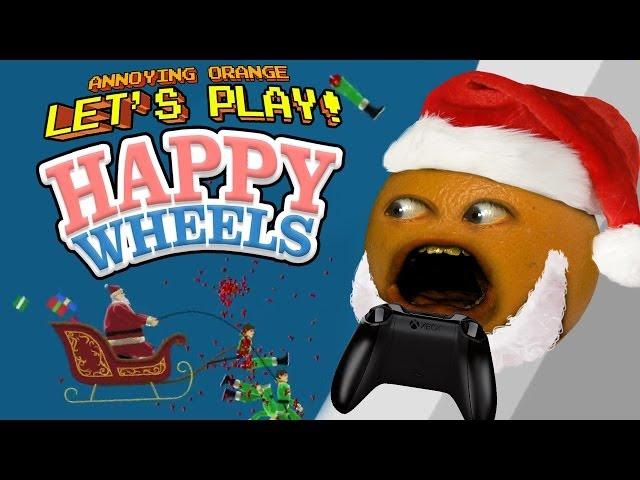Annoying Orange Let's Play Happy Wheels: Jingle Bell SPLAT!