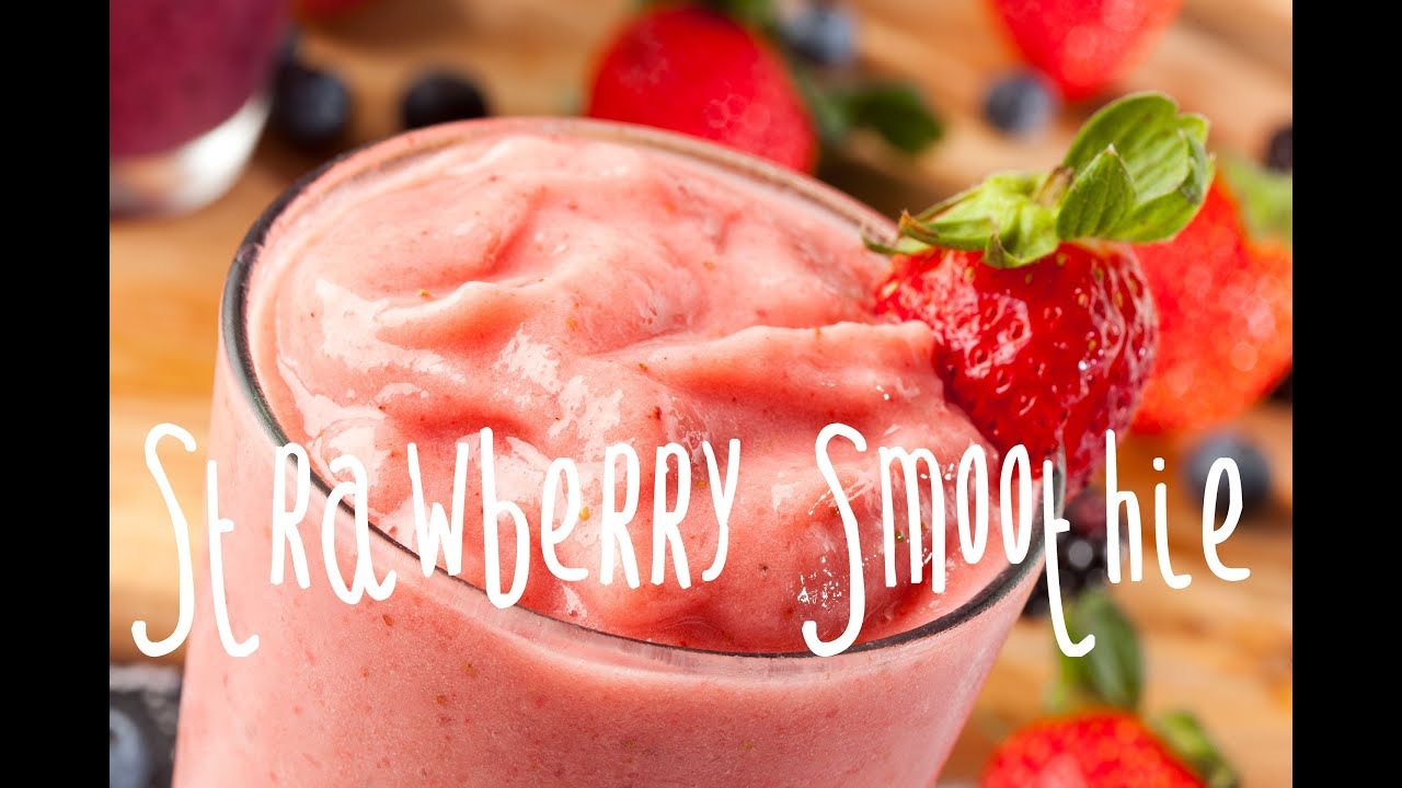 How to make a strawberry banana smoothie youtube for What can you make with strawberries