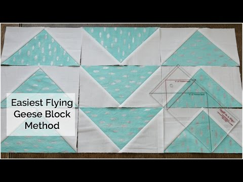 How to Make a Flying Geese Block Using the Quilt in a Day Ruler