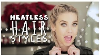 Cute Lazy Day Hairstyles! (Heatless!)