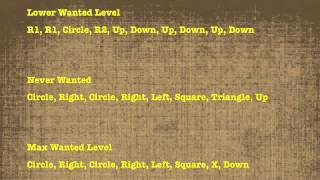 GTA San Andreas All Cheat Codes (PS2 & PS3)