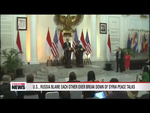 U.S., Russia blame each other over break down of Syria peace talks