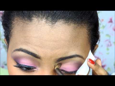 Negras Compartilham -  Maquiagem Outubro Rosa. Por Camila Nunes