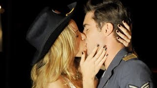 Zac Efron Kisses Halston Sage In Townies First Look