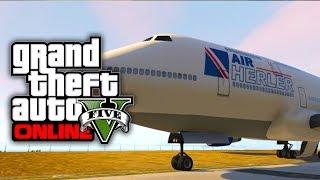 GTA 5 Online: Get The 747 Jumbo Jet In Free Mode! NO