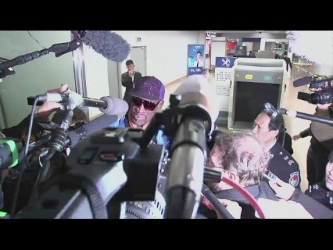 Emotional Dennis Rodman defends his intentions - 'I'm not the president'
