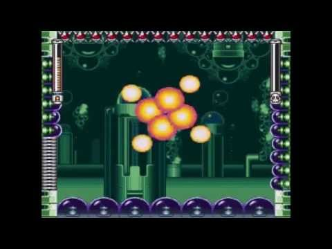 SNES Mega Man 7 VII - Burst Man Stage Walkthrough & Commentary - Code in Description