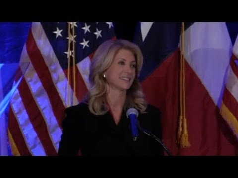 Wendy Davis Speaks to Supporters in Travis County