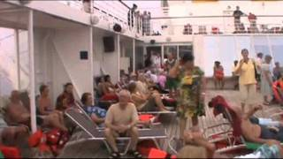 Raw Video: Passengers Calm Aboard Costa Allegra