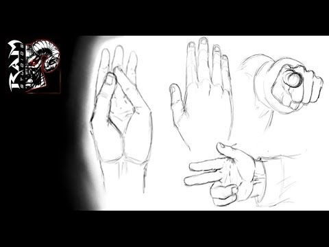 How to draw - Hands - Video - Tutorial ( Narrated)