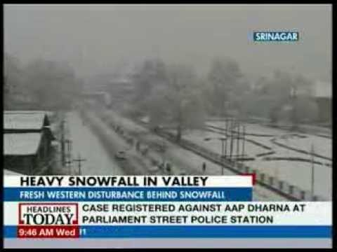 Heavy Snowfall in Kashmir Valley